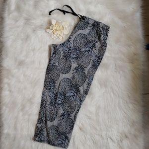 EUC! Pineapple Capri PJ pants